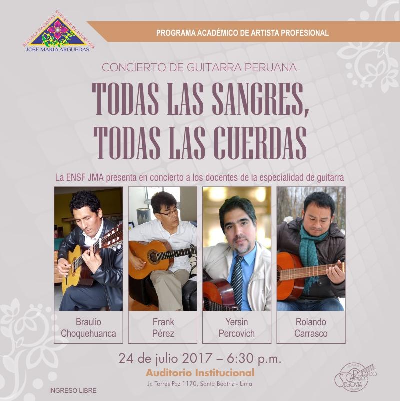 CONCIERTO DE GUITARRA PERUANA TODAS LAS SANGRES,  TODAS LAS CUERDAS
