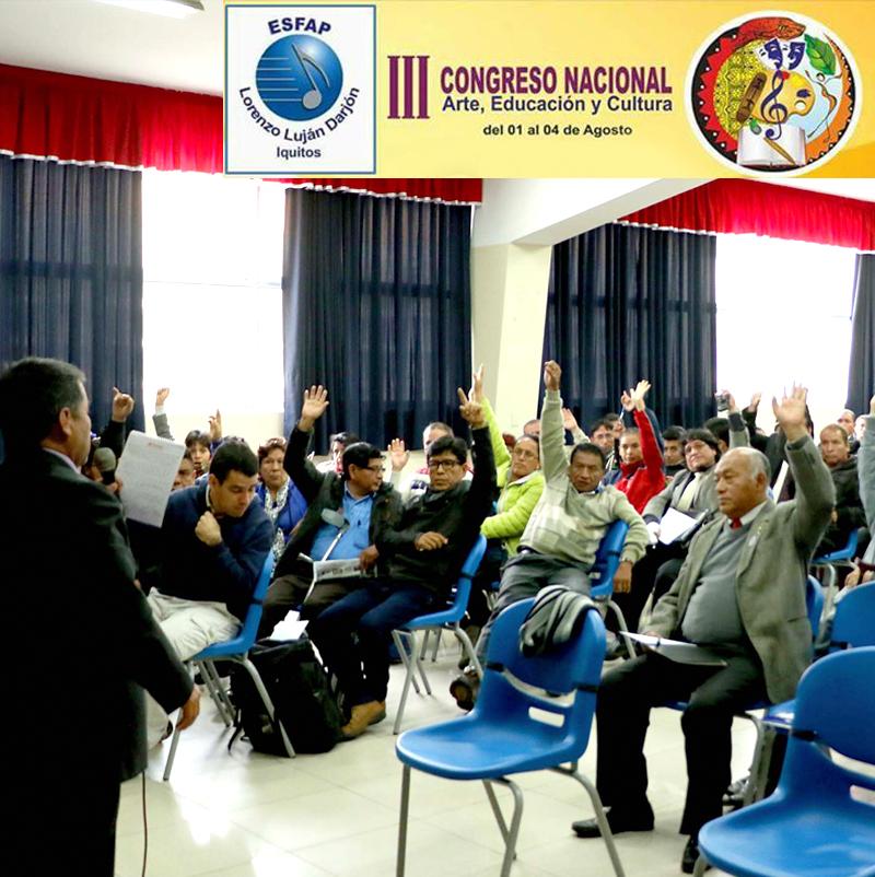 ESCUELA DE FOLKLORE PRESENTE EN EL III CONGRESO NACIONAL DE ARTE, EDUCACIÓN Y CULTURA