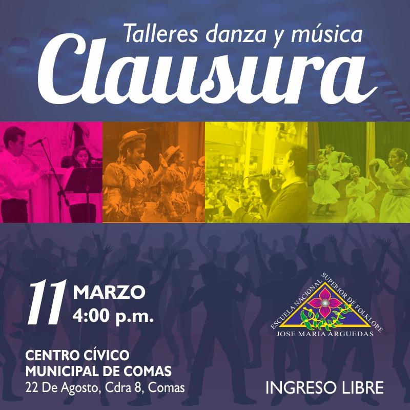 CLAUSURA TALLERES DE DANZA Y MÚSICA