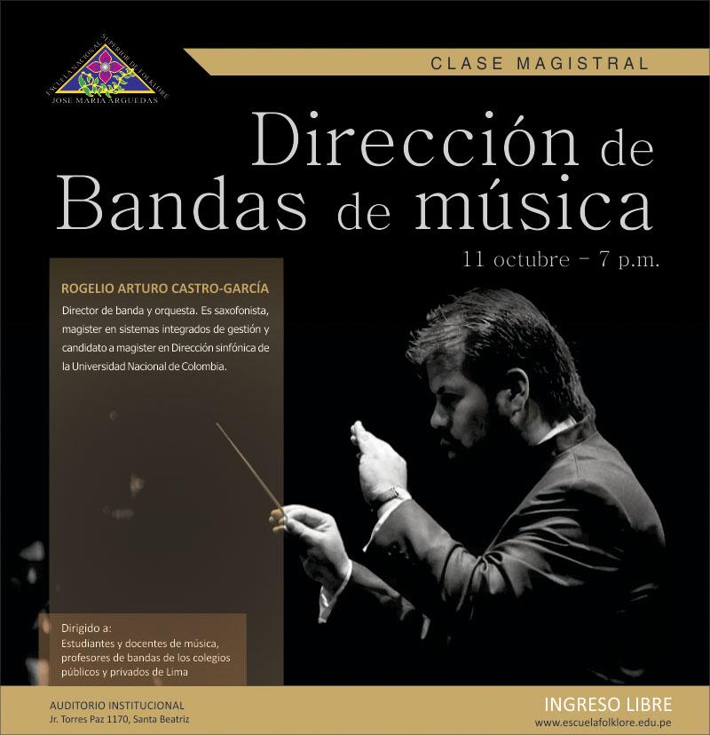 """CLASE MAGISTRAL """"DIRECCIÓN DE BANDAS DE MÚSICA"""""""