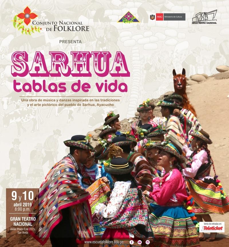"""""""SARHUA, TABLAS DE VIDA"""" EN EL GRAN TEATRO NACIONAL"""