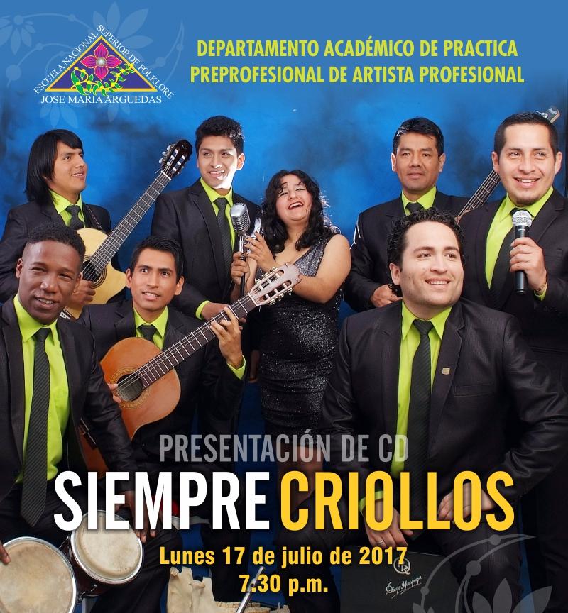 PRESENTACIÓN DE CD SIEMPRE CRIOLLOS