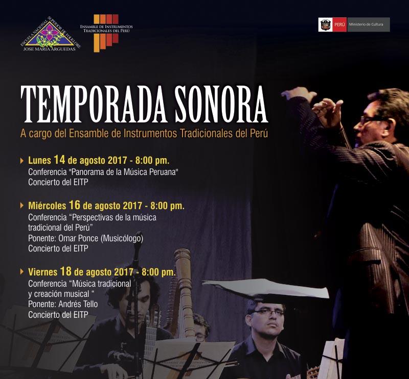 TEMPORADA SONORA – Ensamble de Instrumentos Tradicionales del Perú