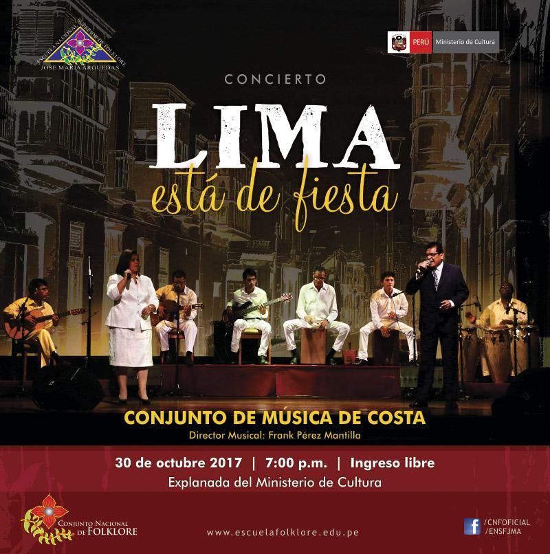 """CONCIERTO """"LIMA ESTÁ DE FIESTA"""""""