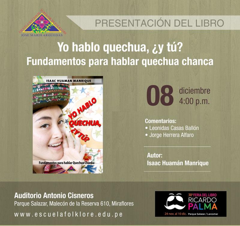 Presentación de Libro – Yo hablo quechua, ¿y tú?