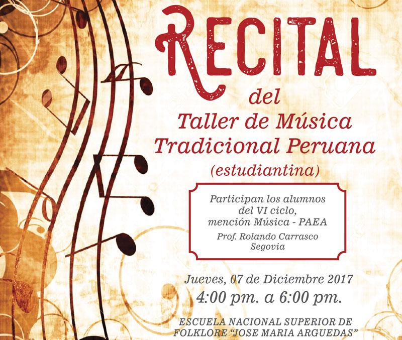 Recital del Taller de Música Tradicional Peruana
