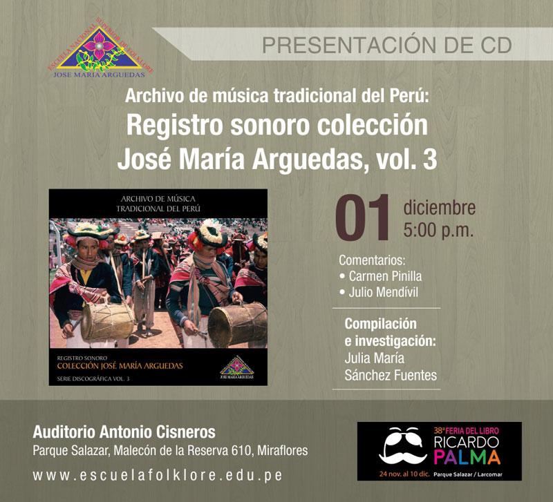 Presentación de CD – Registro Sonoro Vol. 3