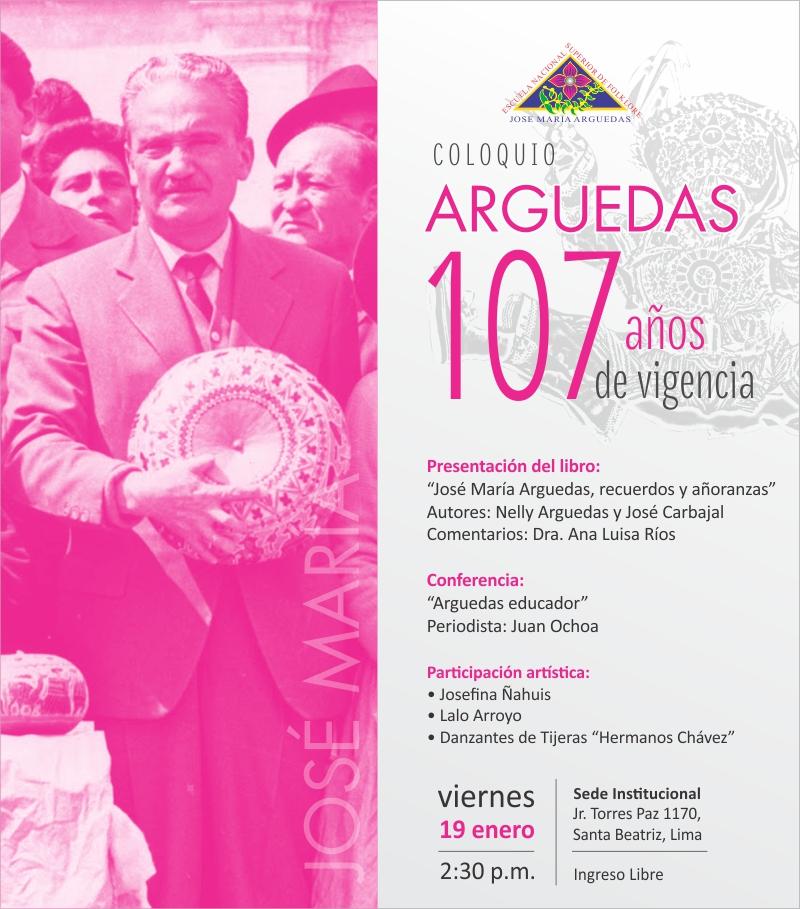 COLOQUIO: ARGUEDAS 107 AÑOS DE VIGENCIA