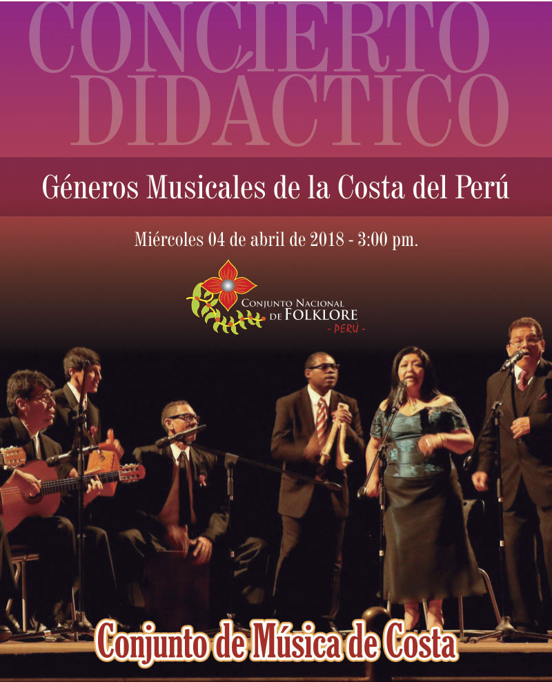 CONCIERTO DIDÁCTICO – GÉNEROS MUSICALES DE LA COSTA DEL PERÚ