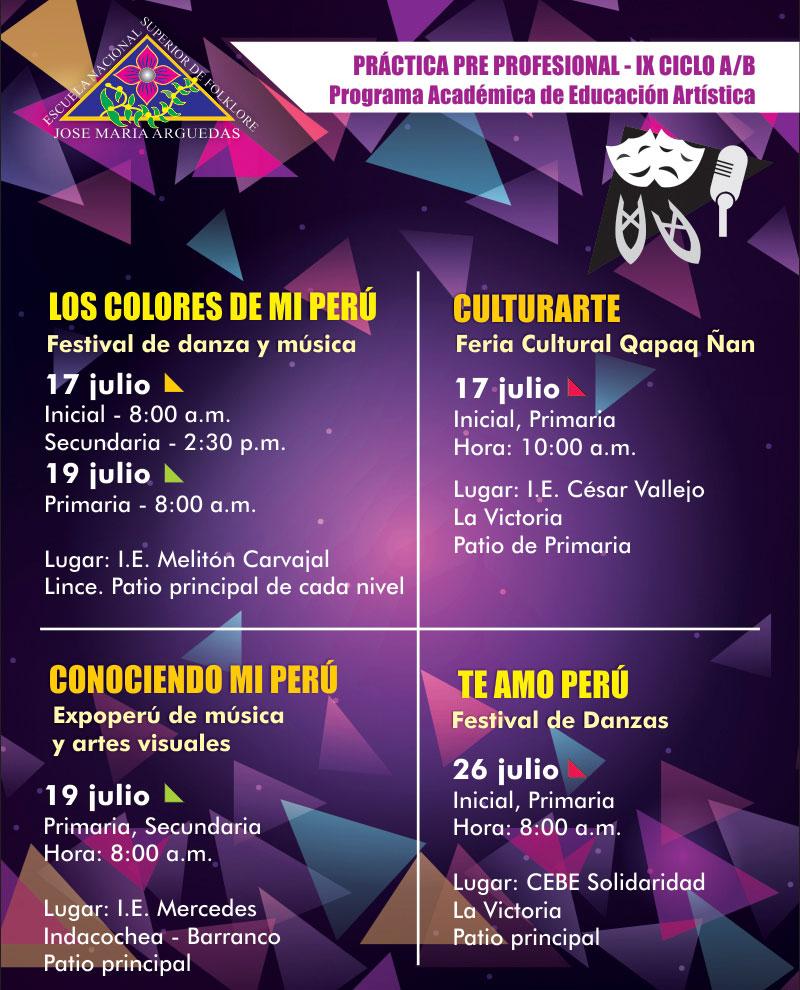 PRÁCTICA PRE PROFESIONAL – IX CICLO A/B  Programa Académica de Educación Artística