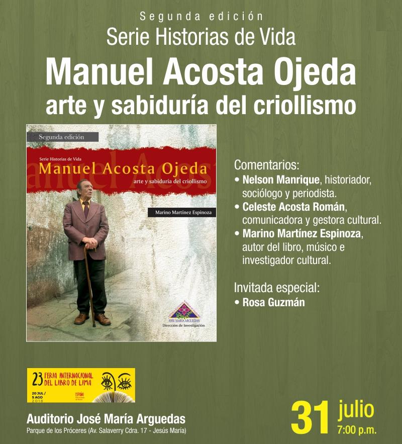 Serie Historias de Vida Manuel Acosta Ojeda arte y sabiduría del criollismo