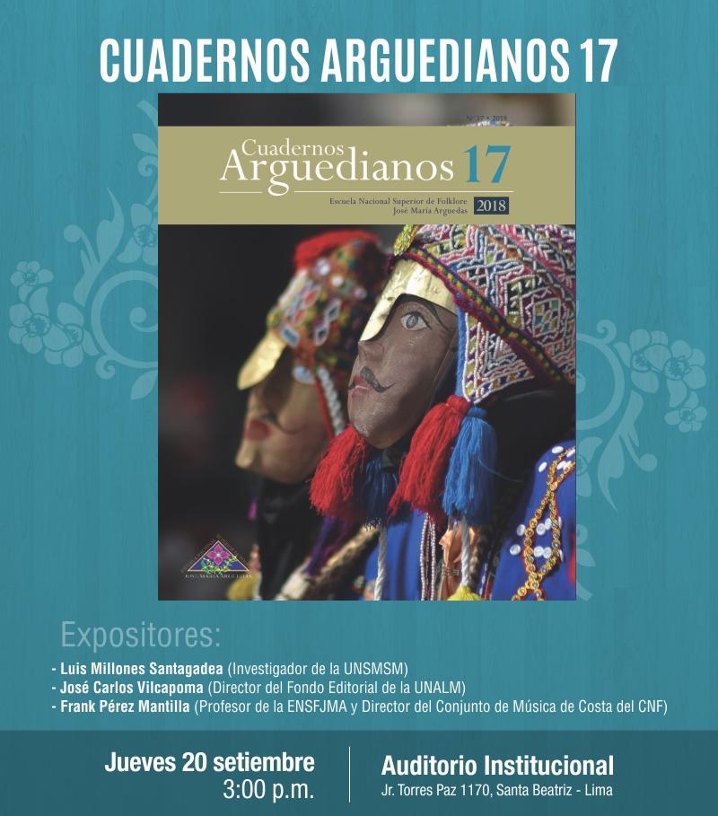 PRESENTACIÓN DE LA REVISTA CUADERNOS ARGUEDIANOS N° 17