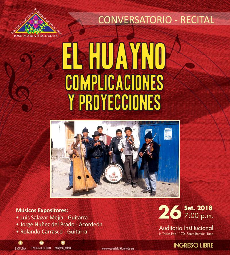 Conversatorio EL HUAYNO, COMPLICACIONES Y PROYECCIONES