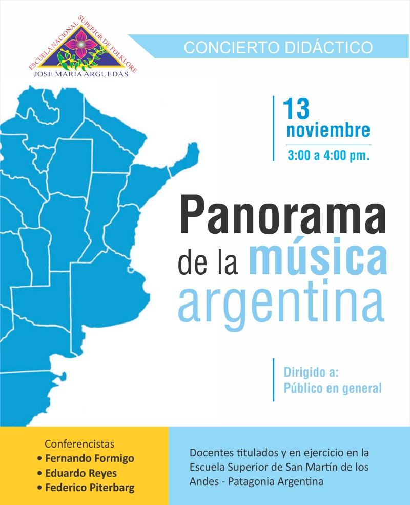CONCIERTO DIDÁCTICO: PANORAMA DE LA MÚSICA ARGENTINA