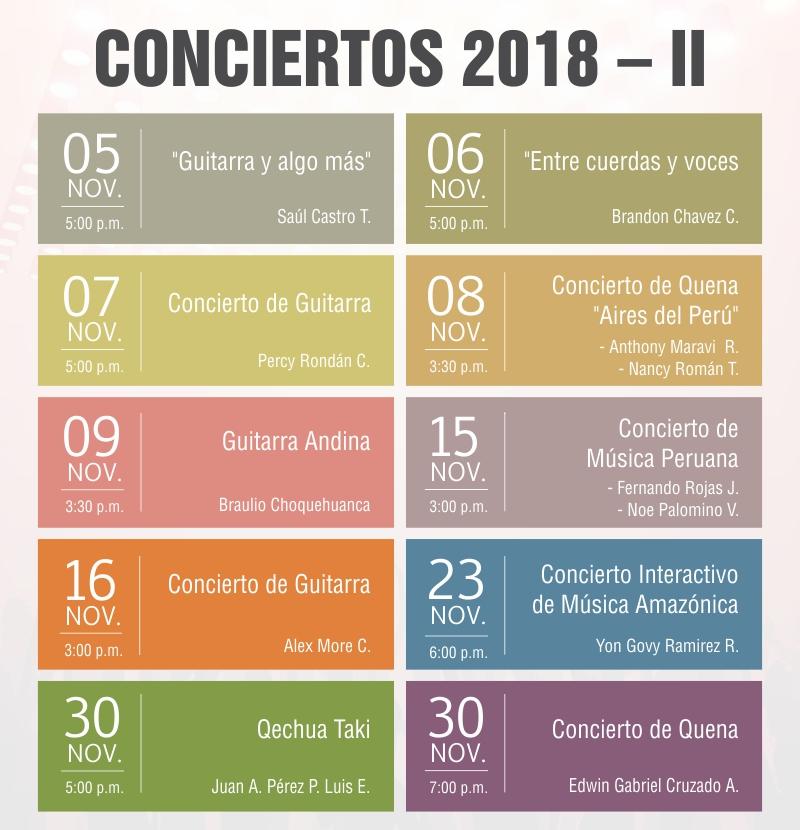 CONCIERTOS 2018 – II