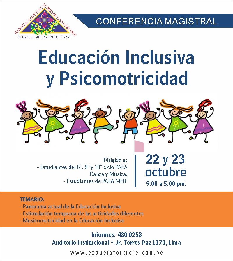 Conferencia: Educación Inclusiva y Psicomotricidad