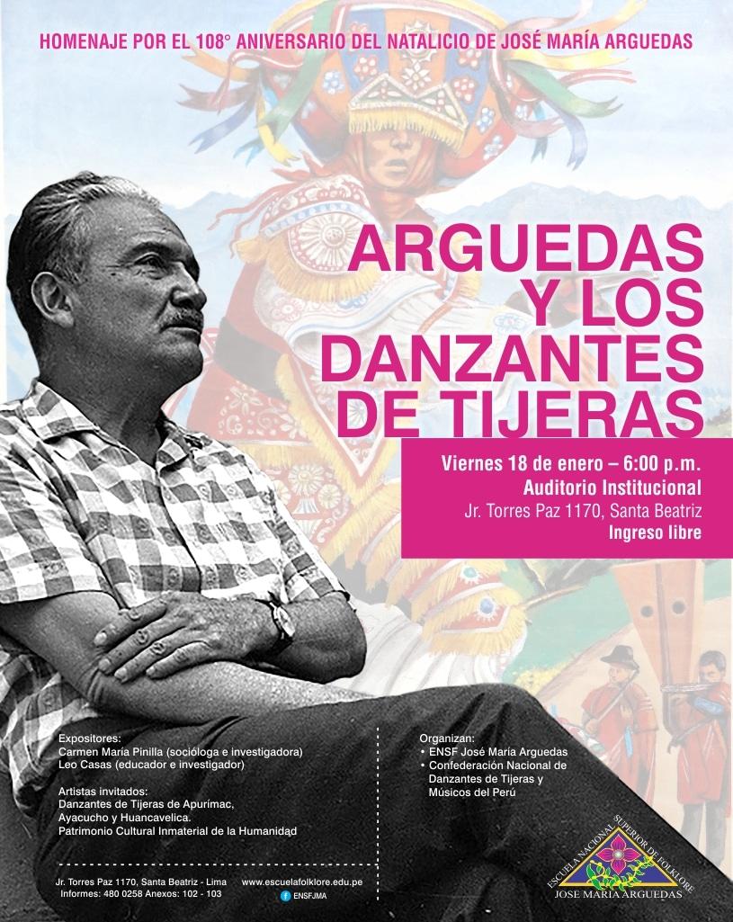 CELEBRANDO EL NACIMIENTO DE JOSÉ MARÍA ARGUEDAS