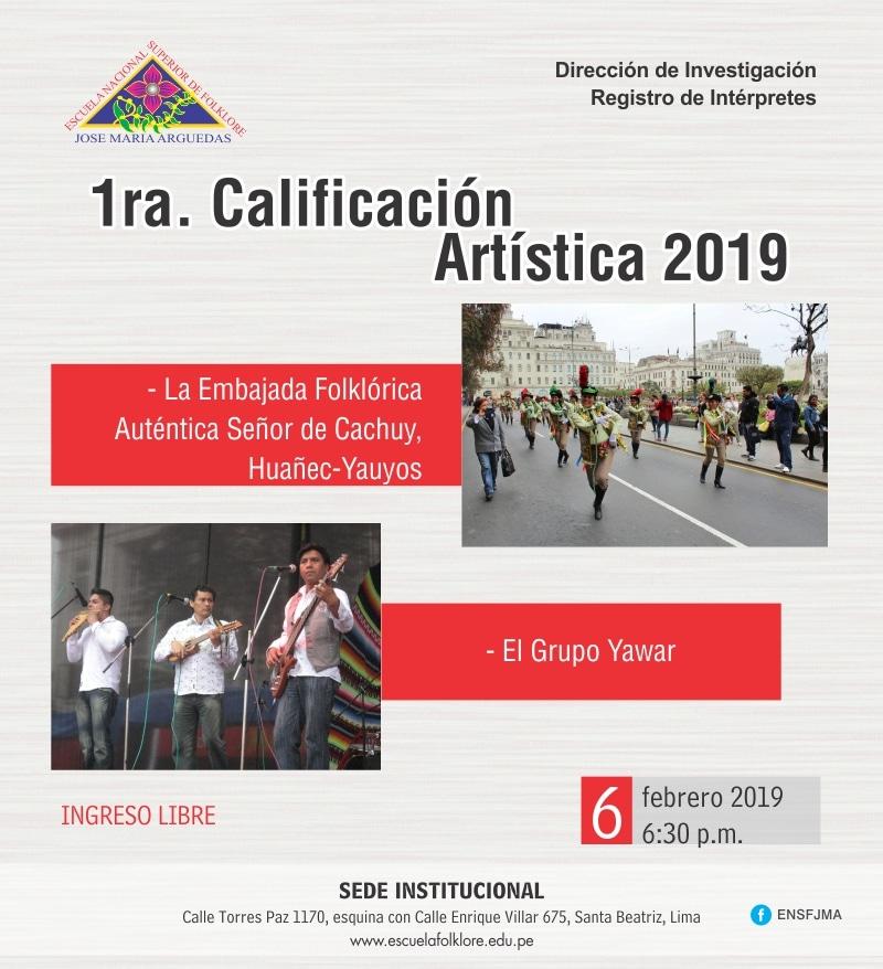 1RA. CALIFICACIÓN ARTÍSTICA 2019