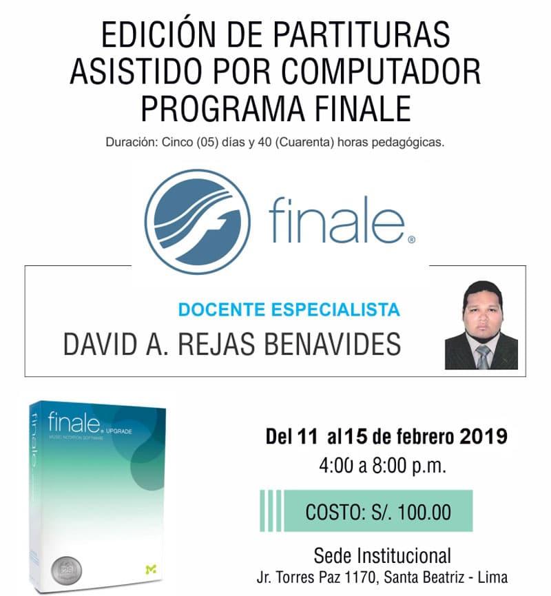 EDICIÓN DE PARTITURAS ASISTIDO POR COMPUTADORA PROGRAMA FINALE