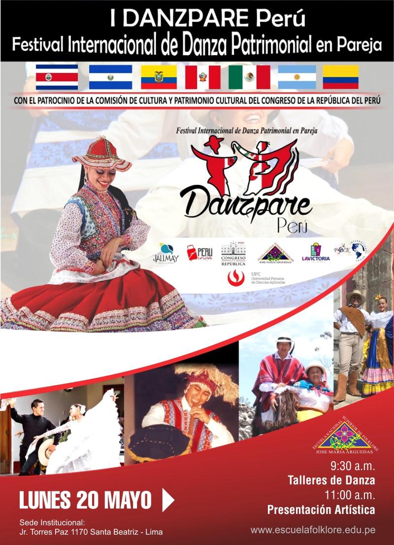 I DANZPARE PERÚ Festival Internacional de Danza Patrimonial en Pareja