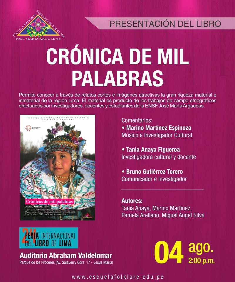 Presentación de libro: CRÓNICAS DE MIL  PALABRAS