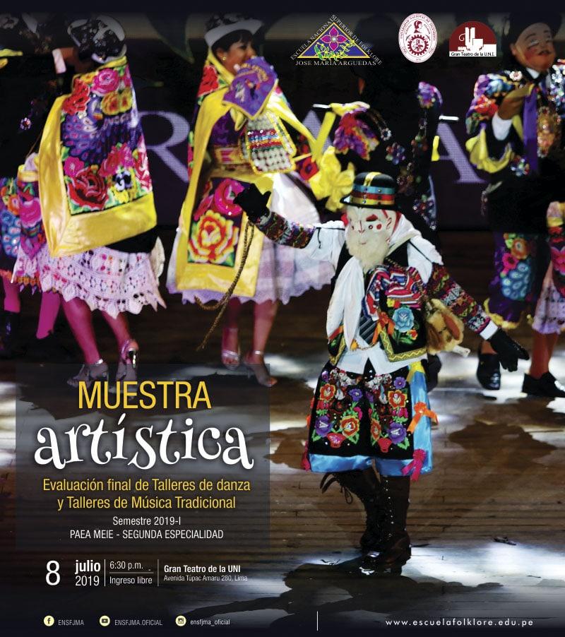 MUESTRA ARTÍSTICA. Evaluación final de Talleres de danza y Talleres de Música Tradicional