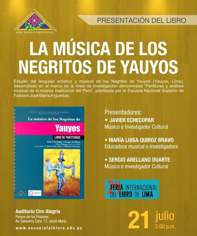 PRESENTACIÓN DE LIBRO: LA MÚSICA DE LOS NEGRITOS DE YAUYOS