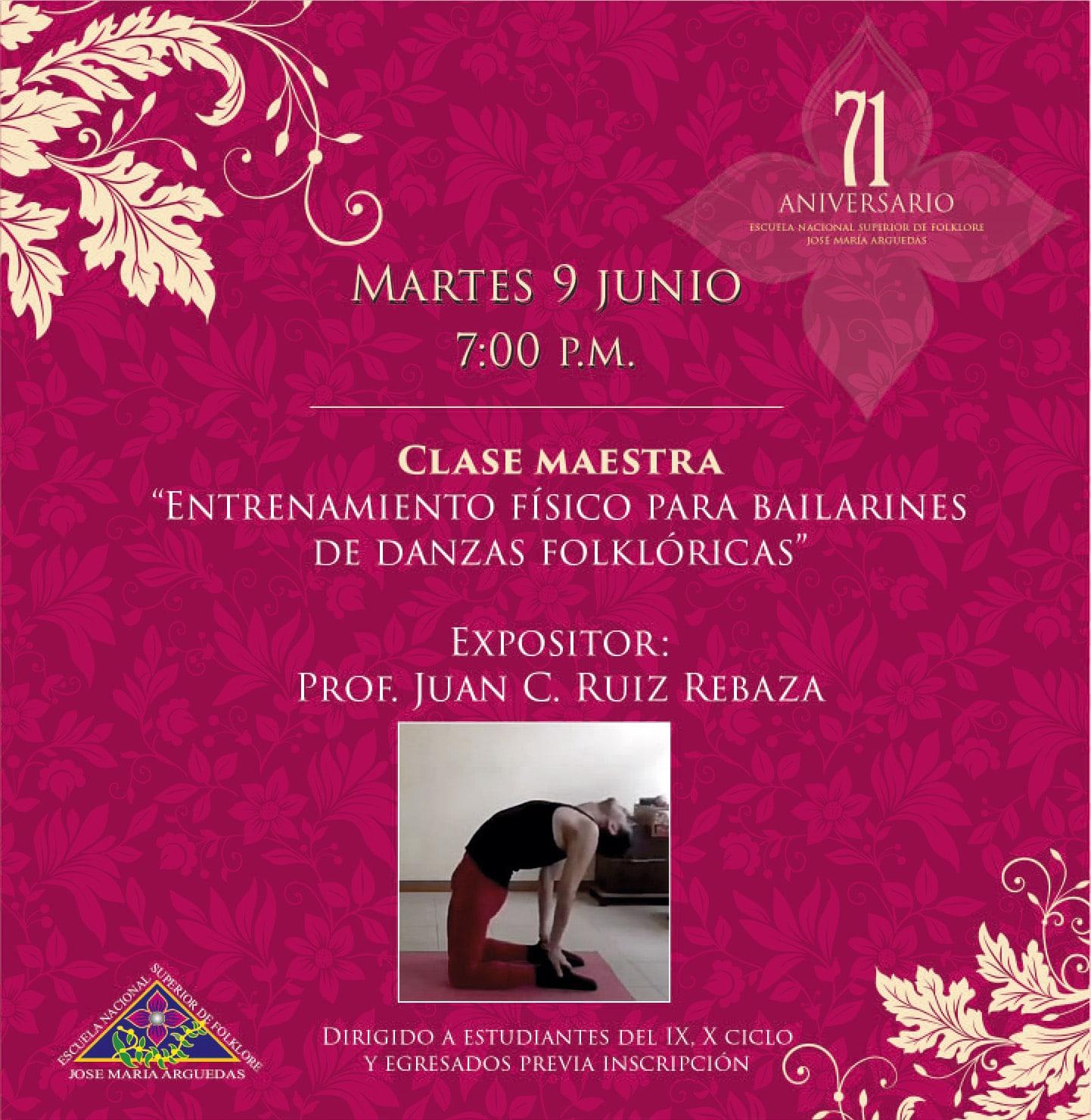 CLASE MAESTRA, ENTRENAMIENTO PARA BAILARINES DE DANZAS FOLKLÓRICAS