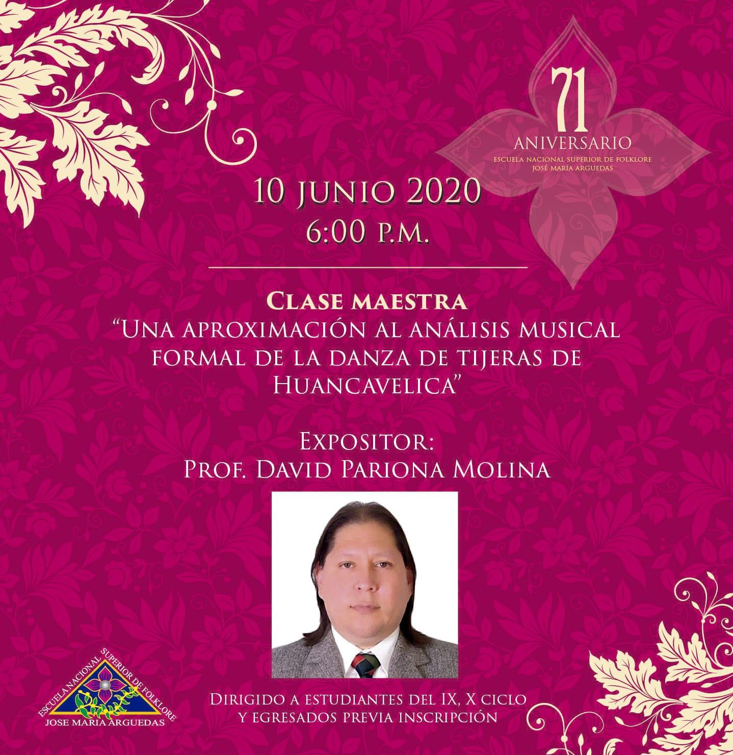 CLASE MAESTRA, Una aproximación al análisis musical formal de la danza de tijeras de Huancavelica