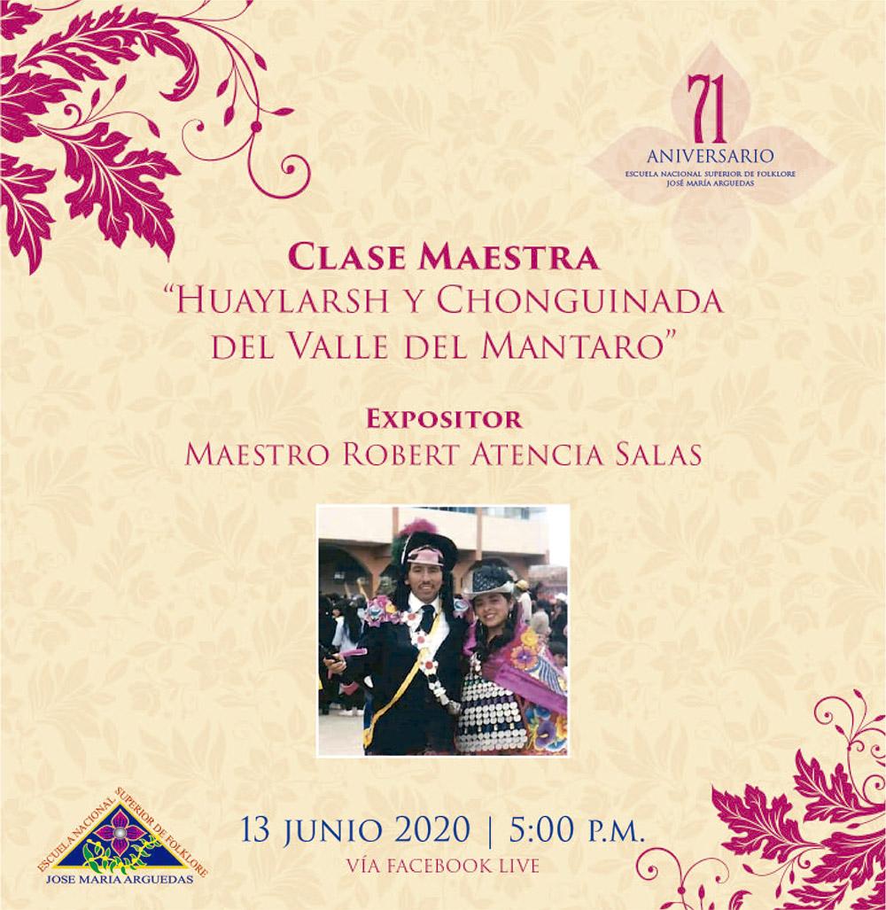 """Clase Maestra """"Huaylarsh y Chonguinada  del Valle del Mantaro"""""""