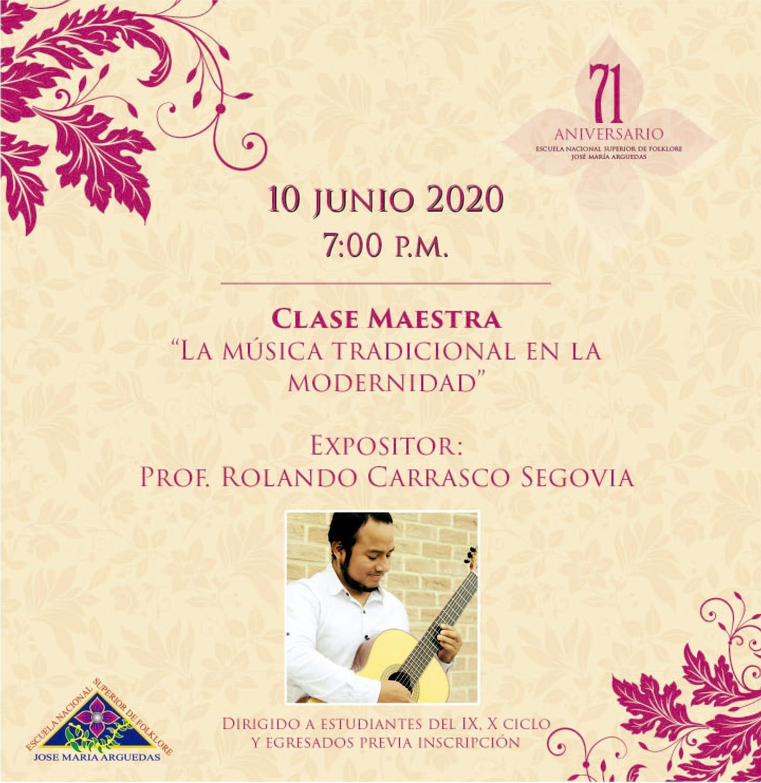 CLASE MAESTRA: La música tradicional en la modernidad