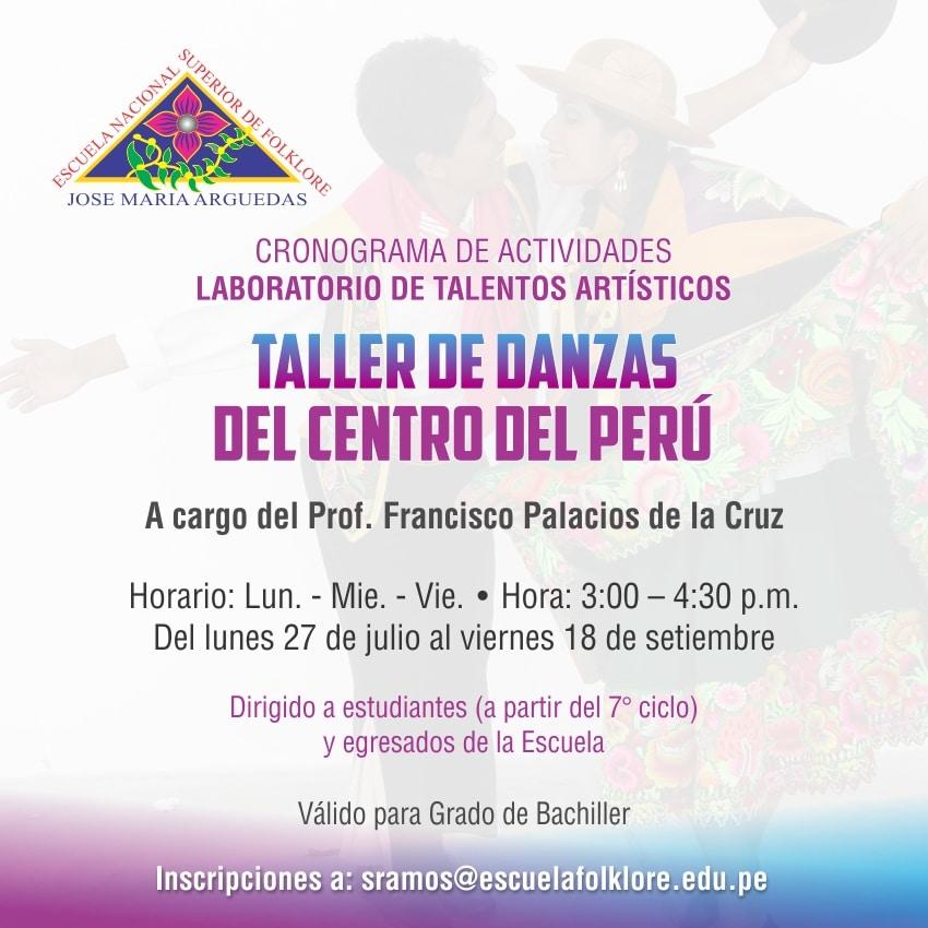 TALLER DE DANZAS DEL CENTRO DEL PERÚ