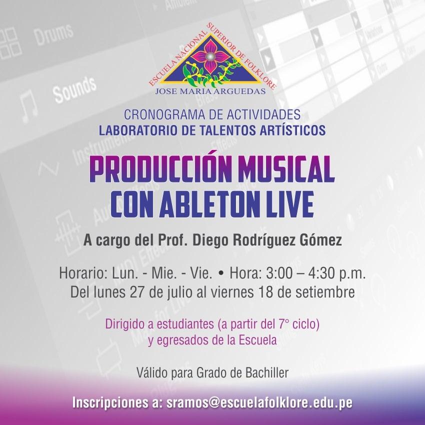 PRODUCCIÓN MUSICAL CON ABLETON LIVE