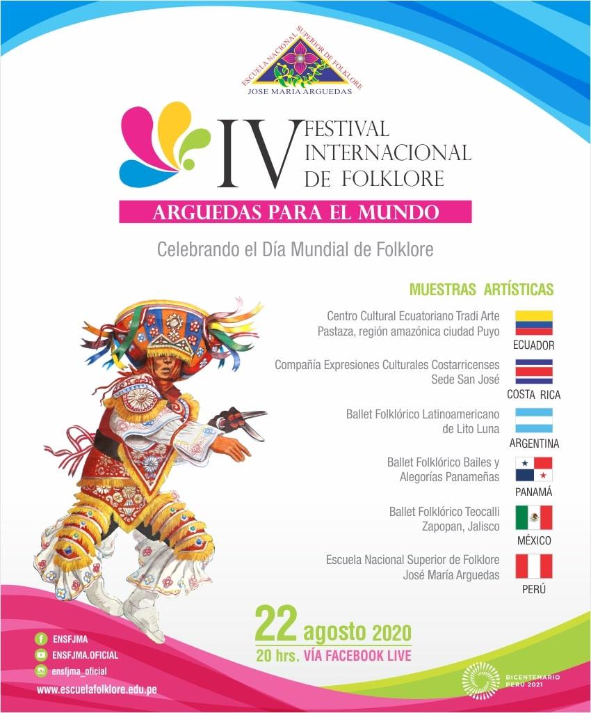 """IV FESTIVAL INTERNACIONAL DE FOLKLORE """"ARGUEDAS PARA EL MUNDO"""""""