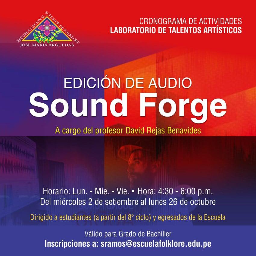 EDICIÓN DE AUDIO SOUND FORGE