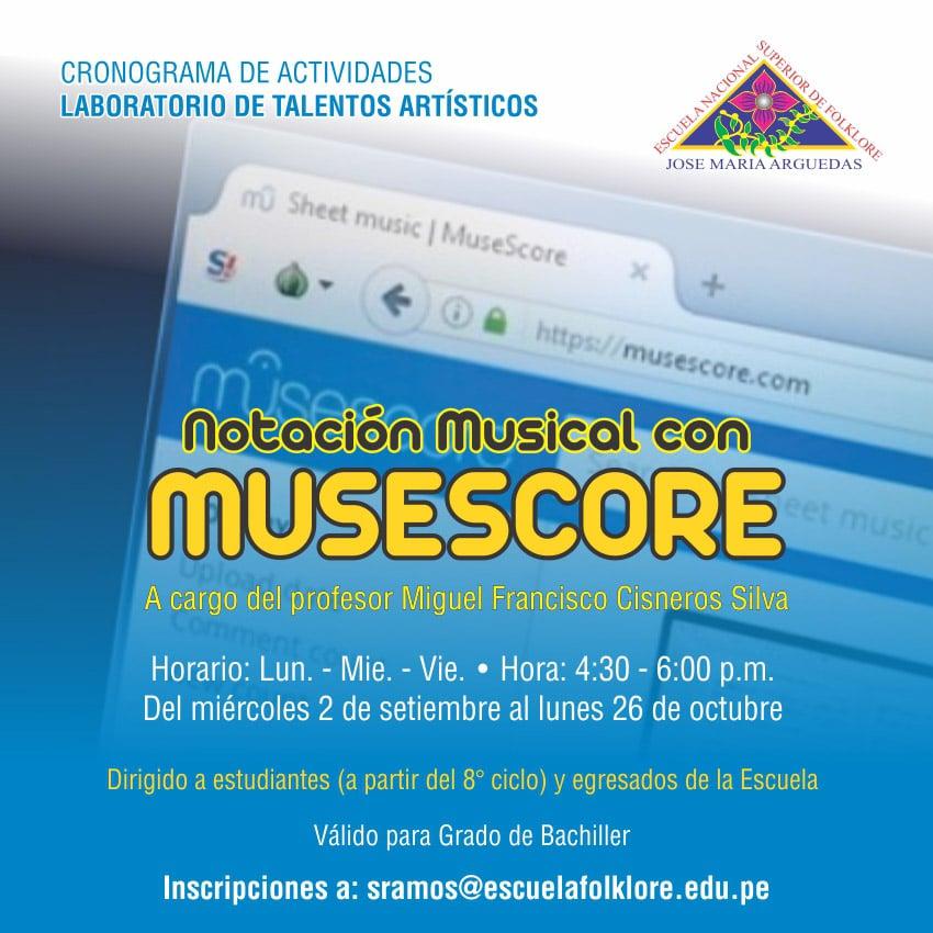 NOTACIÓN MUSICAL CON MUSESCORE