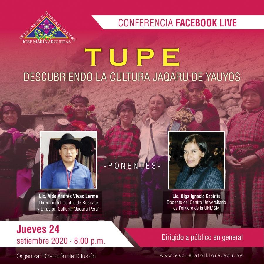 TUPE: DESCUBRIENDO LA CULTURA JAQARU DE YAUYOS