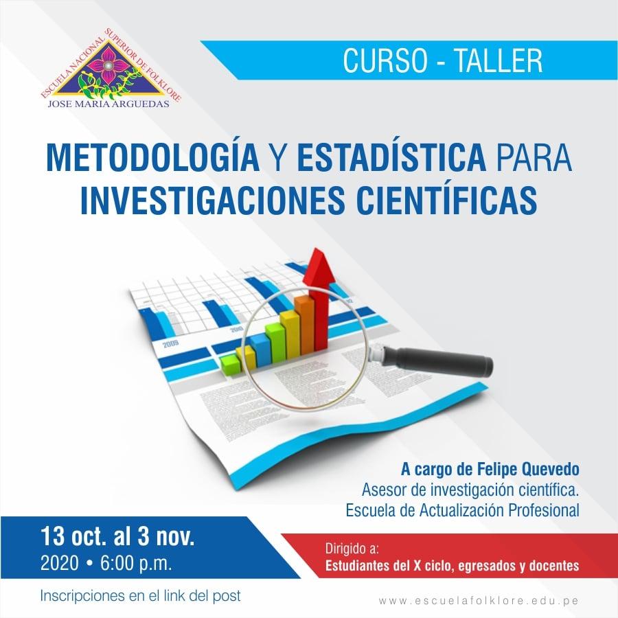 METODOLOGÍA Y ESTADÍSTICA PARA INVESTIGACIONES CIENTÍFICAS