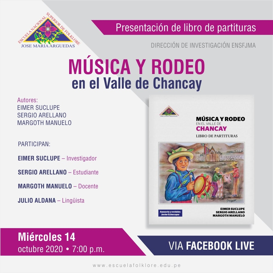 """PRESENTACIÓN DE LIBRO """"MÚSICA Y RODEO EN EL VALLE DE CHANCAY"""""""