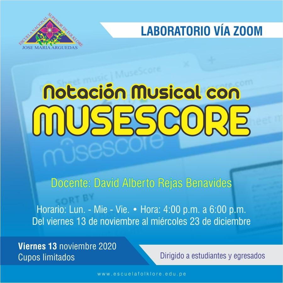 LABORATORIO: NOTACIÓN MUSICAL MUSESCORE