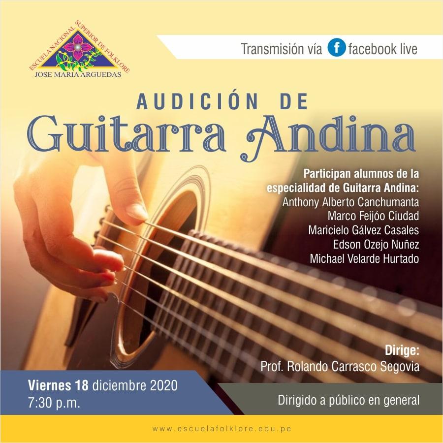 AUDICIÓN DE GUITARRA ANDINA