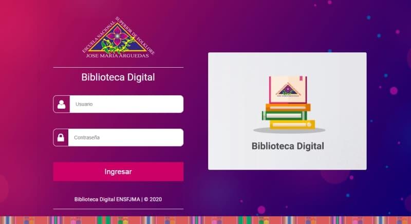 ENSF JOSÉ MARÍA ARGUEDAS IMPLEMENTÓ LA BIBLIOTECA DIGITAL