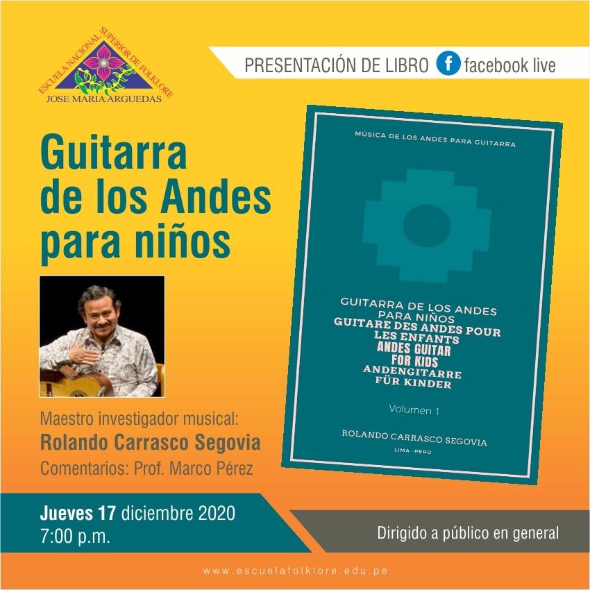 """PRESENTACIÓN DEL LIBRO """"GUITARRA DE LOS ANDES PARA NIÑOS"""""""