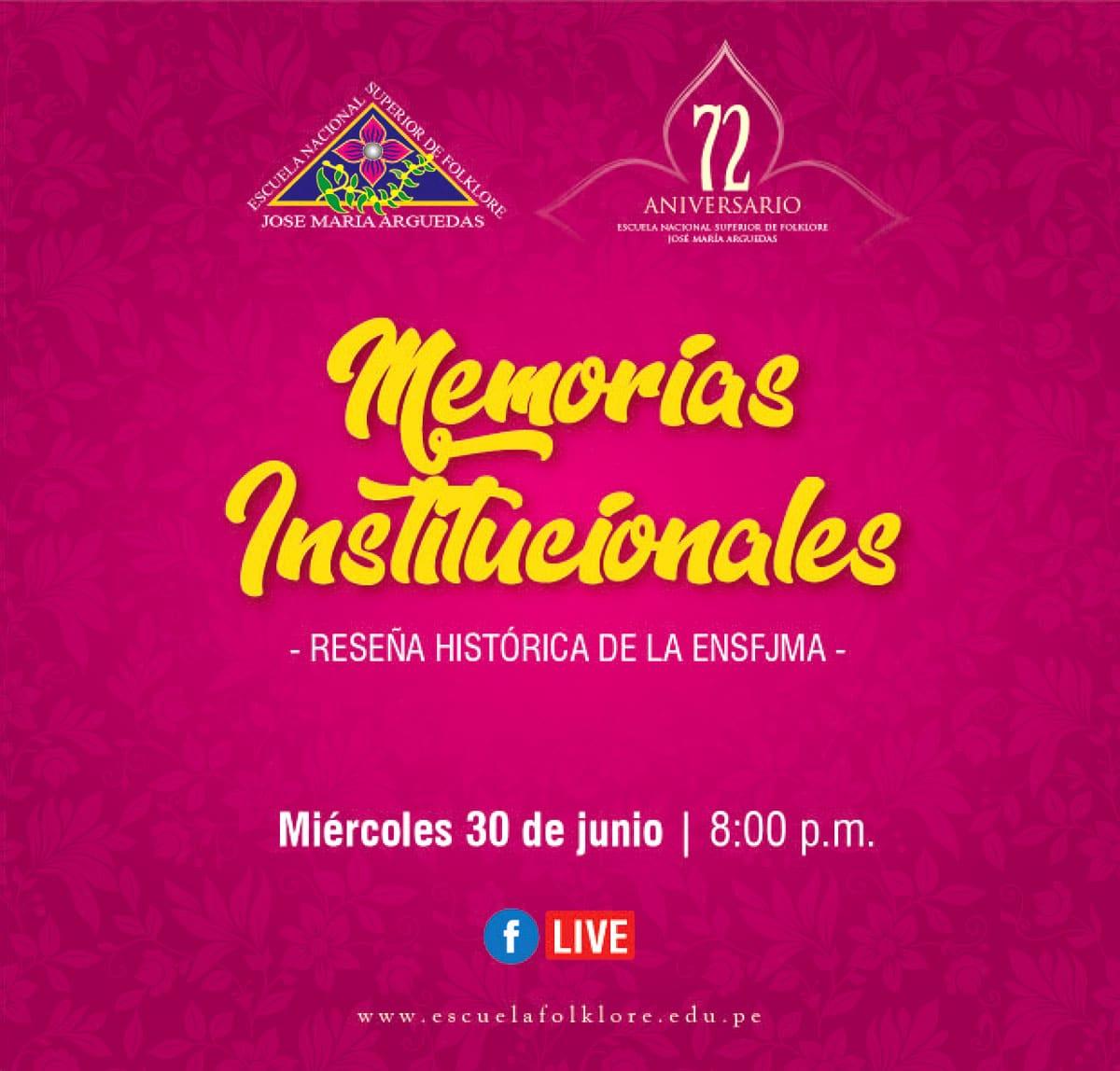 MEMORIAS INSTITUCIONALES – RESEÑA HISTÓRICA