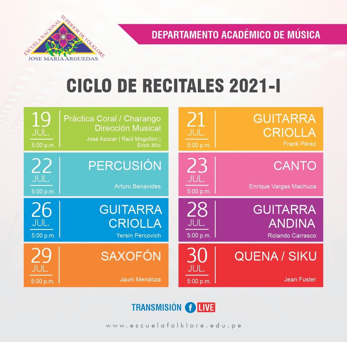 CICLO DE RECITALES 2021-I