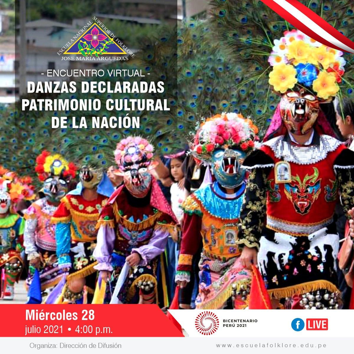 ENCUENTRO VIRTUAL DE DANZAS DECLARADAS PATRIMONIO CULTURAL DE LA NACIÓN