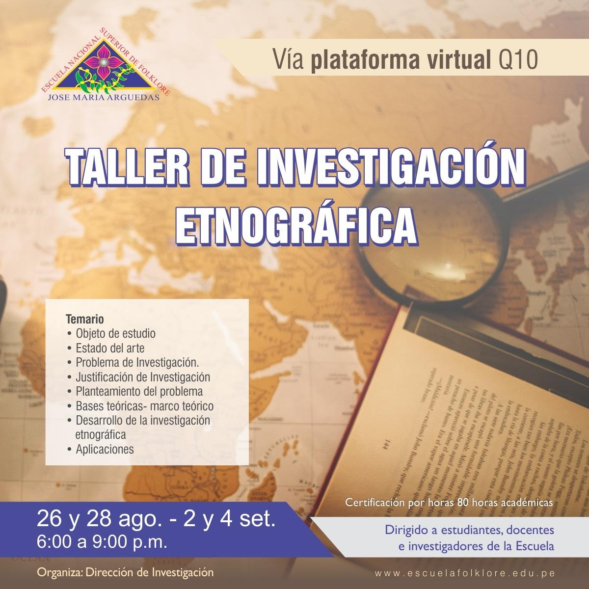 TALLER DE INVESTIGACIÓN ETNOGRÁFICA